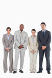 Confident young businessteam standing together Royalty Free Stock Image