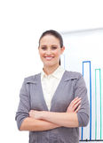 Confident young businesswoman with folded arms Royalty Free Stock Images