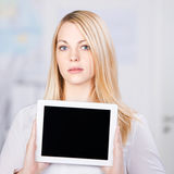 Confident Young Businesswoman Holding Digital Tablet Stock Photography