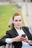 Confident Young Businesswoman With Mobile Phone Stock Images