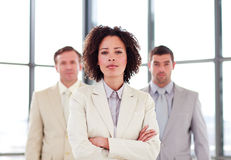 Confident young businesswoman in office Stock Photography
