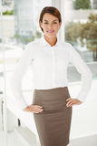 Confident young businesswoman in office Royalty Free Stock Images