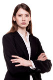 Confident young businesswoman / student arms crossed in Studio Royalty Free Stock Photos