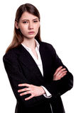 Confident young businesswoman / student arms crossed in Studio Royalty Free Stock Images