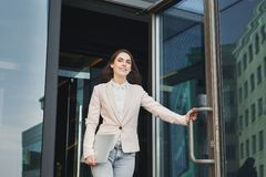 Free Confident Young Businesswoman Talking On Mobile Stock Photography - 116110412