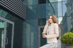 Free Confident Young Businesswoman Talking On Mobile Royalty Free Stock Images - 116654459