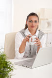 Confident young businesswoman working Stock Image