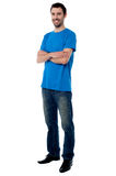 Confident young casual guy, studio shot. Stock Photography