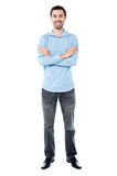Confident young casual guy, studio shot. Stock Images