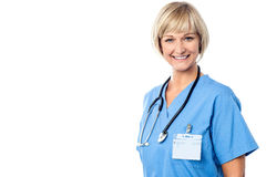 Confident young charming lady doctor Royalty Free Stock Images