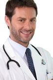 Confident young doctor. Inspired trust Royalty Free Stock Image
