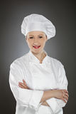 Confident young female chef Royalty Free Stock Photos