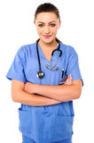 Confident young female doctor Royalty Free Stock Image