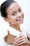 Confident young girl of mix parentage Stock Images