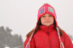 Confident young girl in winter Royalty Free Stock Photography