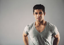 Free Confident Young Hispanic Male Fashion Model Royalty Free Stock Photography - 42935647