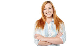 Confident young isolated smiling woman Stock Photography