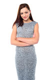 Confident young lady in trendy outfit Royalty Free Stock Image