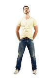 Confident young latin man with head tilted back Stock Photography