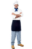Confident young male chef Stock Images