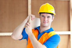 Confident young male worker Stock Image