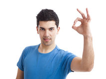 Confident young man Stock Images