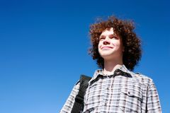 Confident young man stock image