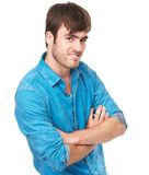 Confident young man with arms crossed Stock Photos