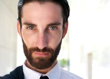 Confident young man with beard Stock Images