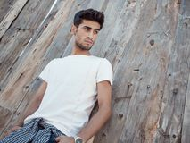 Handsome young man outdoors Royalty Free Stock Image