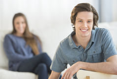 Confident Young Man At Home Stock Images
