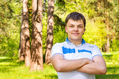 Confident young man in park Stock Photo