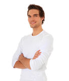 Confident young man smiling Royalty Free Stock Photos