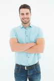 Confident young man standing arms crossed Stock Images