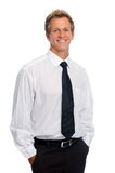 Confident young man in studio Royalty Free Stock Photos