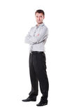 Confident young man in studio Royalty Free Stock Image