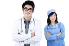 Confident young medical team isolated Stock Image