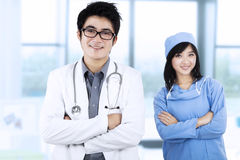 Confident young medical team 1 Royalty Free Stock Photos