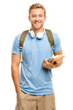 Confident young student back to school on white background Stock Photo