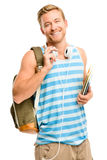 Confident young student back to school  on white background Stock Photography