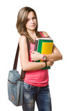 Confident young student girl. Royalty Free Stock Image
