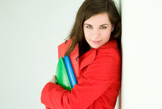 Confident young student woman. Stock Image