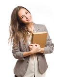 Confident young student woman. Royalty Free Stock Photos
