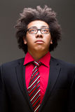 Confident young teenager with afro Royalty Free Stock Photo
