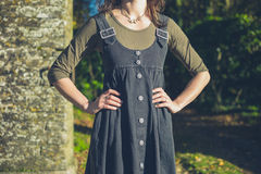 Confident young woman in countryside Royalty Free Stock Photo