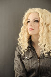 Confident young woman. Pretty girl with smokey eyes royalty free stock image