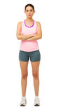 Confident Young Woman In Sportswear Stock Photography