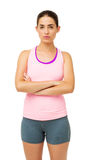 Confident Young Woman In Sportswear Royalty Free Stock Photography