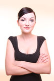 Confident Young Woman With Arms Crossed Royalty Free Stock Photo