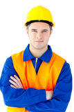 Confident young worker smiling at the camera Stock Photo